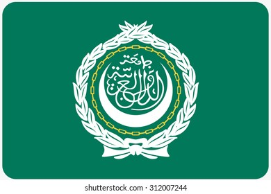 A Flag Illustration with rounded corners of the country of Arab League