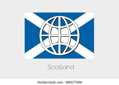 A Flag Illustration of Scotland