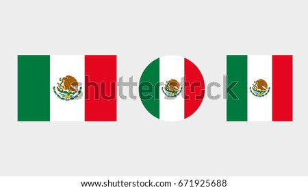 Flag Illustrations of the country  of Mexico