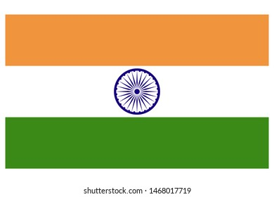 Flag of India Grayscale Icon