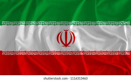 Flag of Iran Background, 3D Illustration