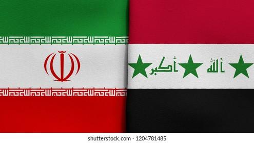 Flag of Iran and Iraq