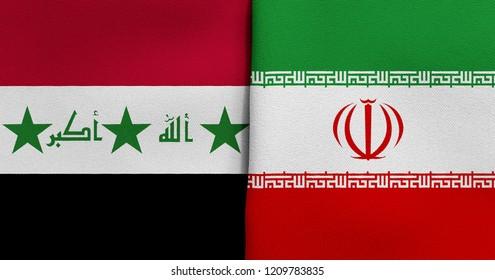 Flag of Iraq and Iran