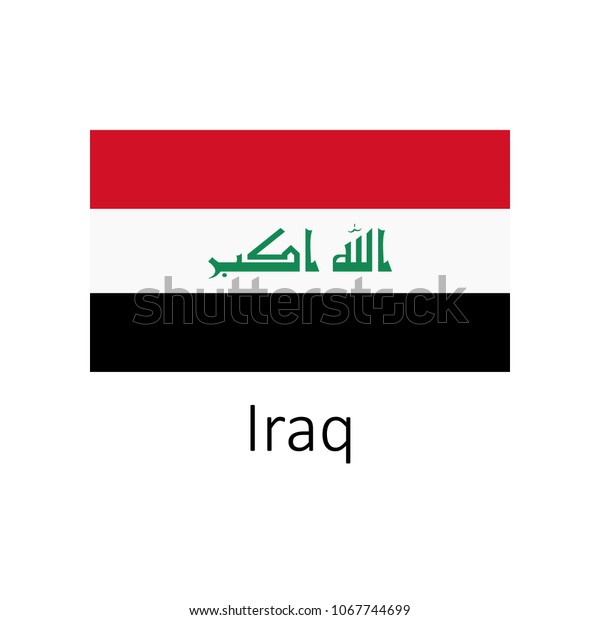 Flag Iraq Name Illustration Official Colors Stock Illustration ...