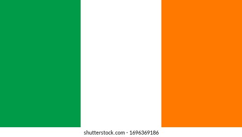Flag of Ireland. Irish flag. Full size.