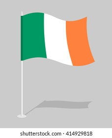Flag of Ireland. Official national character of Irish State. Traditional developing flag