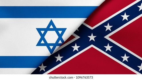 Flag of Israel and Confederate