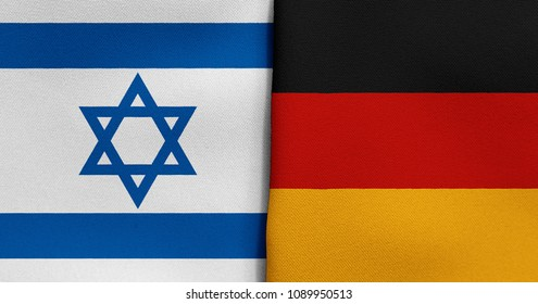 Flag of Israel and Germany