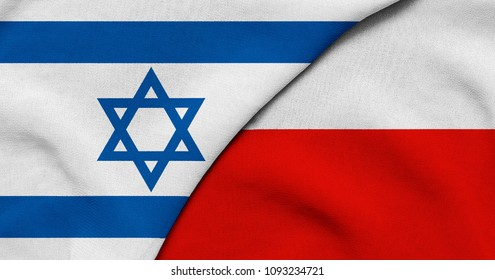 Flag of Israel and Poland