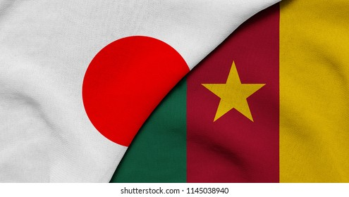 Flag of Japan and Cameroon