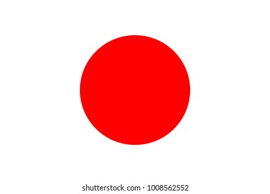 Flag of Japan. Symbol of Independence Day, souvenir soccer game, button language, icon.