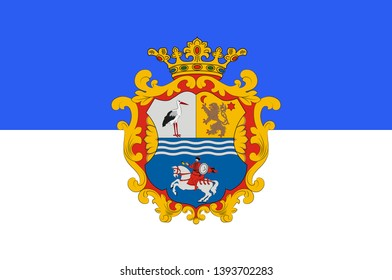 Flag of Jasz-Nagykun-Szolnok is the name of an administrative county in Hungary. 3d illustration