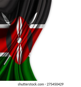 Flag of Kenya  on white background