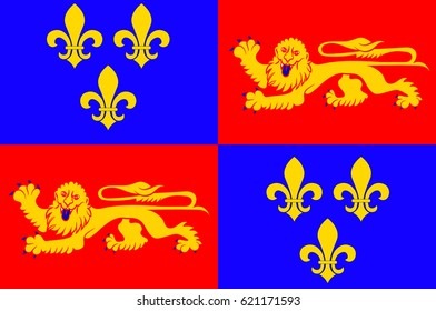 Flag of Landes is a department in southwestern France.