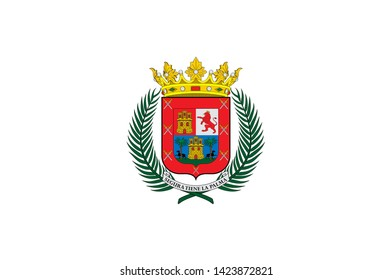 Flag of Las Palmas de Gran Canaria is a city and capital of Gran Canaria island, in the Canary Islands, on the Atlantic Ocean. Vector illustration