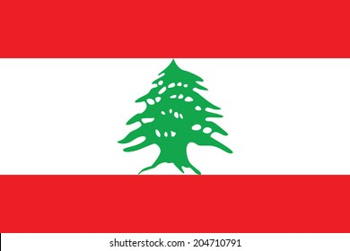 Flag of Lebanon. Accurate dimensions, element proportions and colors.