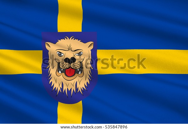 Flag Linkoping Capital City Ostergotland County Stock Illustration 535847896