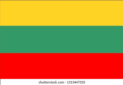 the flag of Lithuania