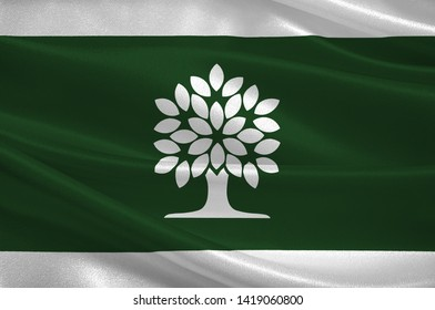 Flag of London is a city in southwestern Ontario, Canada along the Quebec City–Windsor Corridor. 3d illustration