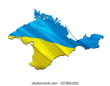 Flag Map of Crimea. 3D rendering Ukraine Crimea map and flag. The national symbol of Crimea. National waving Ukrainian flag colorful concept 3D pattern background download HD