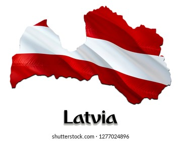 Flag Map of Latvia. 3D rendering Latvia map and flag. The national symbol of Latvia. National waving flag colorful concept 3D pattern background download HD
