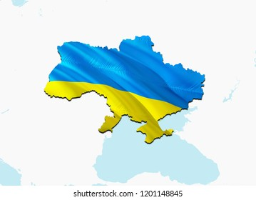 Flag Map of Ukraine. 3D rendering Ukraine map and flag. The national symbol of Ukraine. Ukrainian National waving flag colorful concept 3D pattern background download HD. Ukrainian flag map background