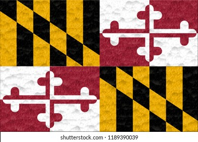 Flag of the Maryland made of plasticine