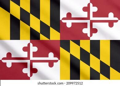 Flag of Maryland waving