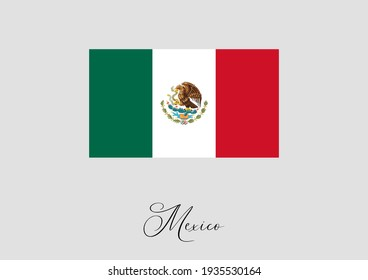 Flag of Mexico and handwritten name of the country.