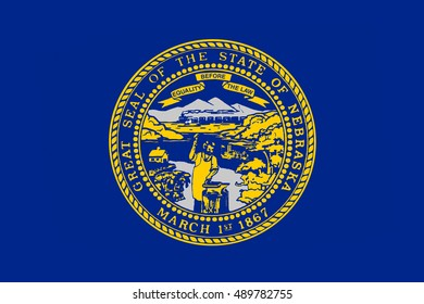 Flag of Nebraska is a state of United States