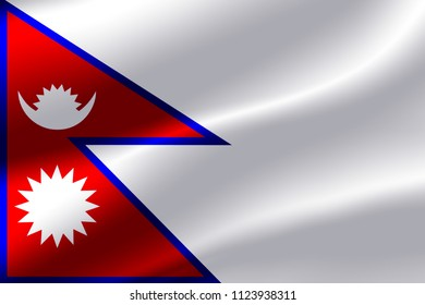 Flag of Nepal as the background.