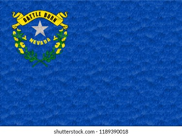 Flag of the Nevada made of plasticine
