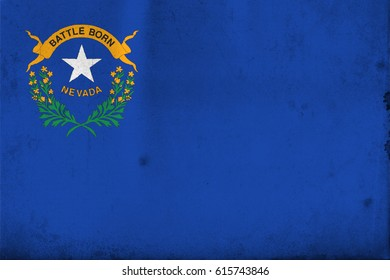 Flag of Nevada, United States of America, with an old, vintage style