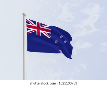 Flag of the New Zealand. 3d rendering