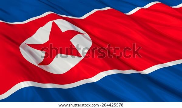 Flag of North Korea.