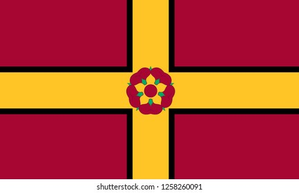 Flag of NORTHAMPTONSHIRE  COUNTY Location of England