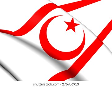 Flag of Northern Cyprus. Close Up.