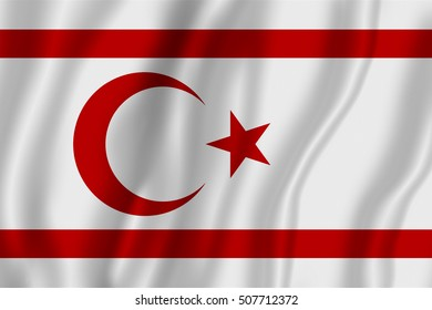 Flag of Northern Cyprus (Turkish Republic of Northern Cyprus)