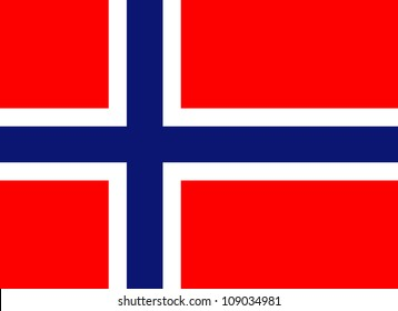 Flag of Norway, (16 x 22)