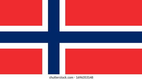 Flag of Norway. Norwegian flag. Full size.