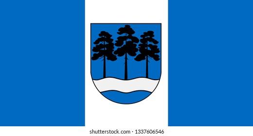 Flag of Ogre. Latvia
