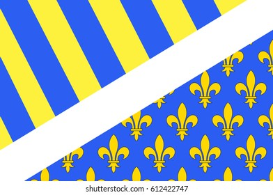 Flag of Oise is a department of Hauts-de-France is a Region in the north of France. Natives of the department are called Isariens