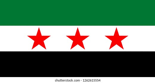 Flag of the opposition SNC and the Free Syrian Army ASL.