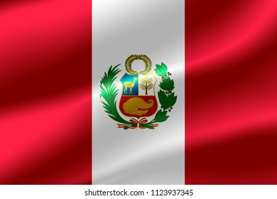 Flag of Peru as the background.