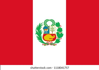 Flag of Peru officially the Republic of Peru is a country in western South America. 3d illustration
