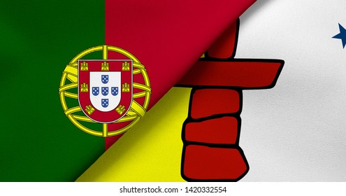 Flag of Portugal and Nunavut