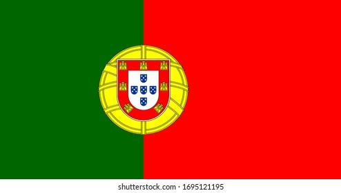 Flag of Portugal. Portuguese flag.