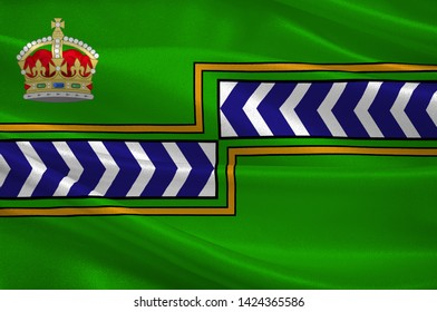 Flag of Regional Municipality of Niagara is a regional municipality comprising twelve municipalities of Southern Ontario, Canada. 3d illustration