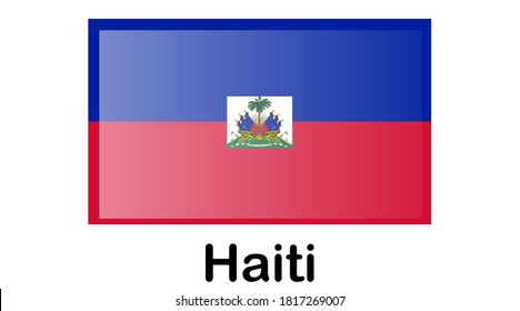 Flag of Republic of Haiti and formerly called Hayti is a country located on the island of Hispaniola, east of Cuba in the Greater Antilles archipelago of the Caribbean Sea.