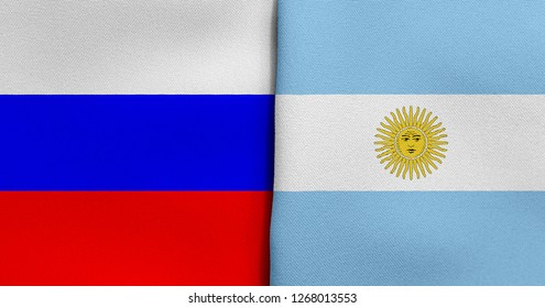 Flag of Russia and Argentina
